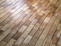 Brick and Basket Weave Pattern Wood Tiles