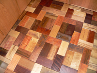 Barnwood Bricks Mixed Hardwoods Kitchen Floor