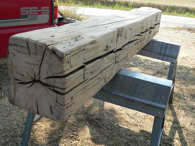 Fireplace Mantels Made From Old Barn Beams 640 x 480