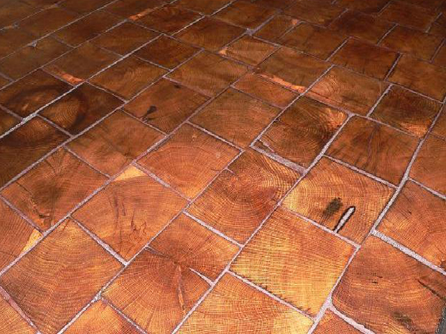 Barnwood Bricks Oak End Grain Flooring