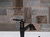 Barnwood Bricks Grey Backsplash