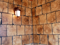 Barnwood Bricks end grain wall white oak