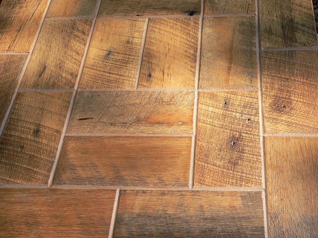 Barnwoodbricks on Rustic Mountain Kitchen